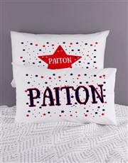 Personalised Stars Pillow Case Set