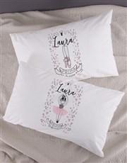 Personalised Ballerina Pillow Case Set