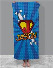 Personalised Superkid Towel Set
