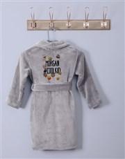 Personalised Emoji Pack Fleece Gown