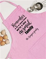 Personalised Normal Family Apron