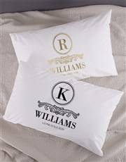 Personalised Family Crest Pillowcase Set