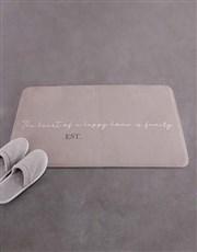 Personalised Vintage Family Name Bath Mat