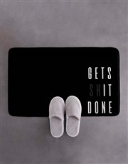 Personalised Gets It Done Bath Mat
