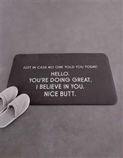 Personalised Just In Case Bath Mat