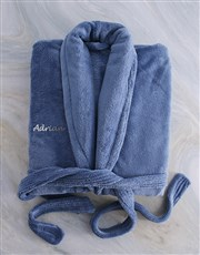 Personalised Denim Fleece Gown