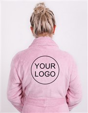 Personalised Own Logo Vintage Pink Fleece Gown