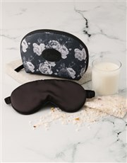 Personalised Black Roses Cosmetic Bag