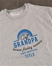 Personalised Golf Title Sweatshirt