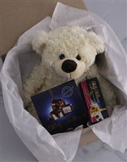 Personalised Teddy and Nougat Initialised Gift