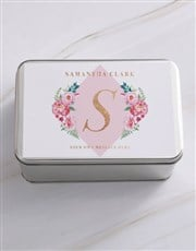 Personalised Floral Flair  Snack Tin