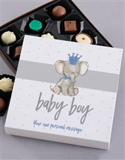 Personalised Baby Boy Chocolate Tray
