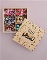 Personalised Gold Birthday Box Of Chocs