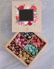 Personalised Floral Box Of Chocs