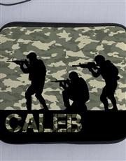 Personalised Neoprene Soldier Tablet Cover