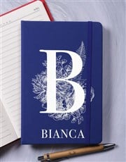 Personalised Botanic Initial A5 Notebook