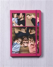Personalised Triple Photo A5 Notebook