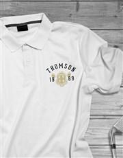 Personalised Year Badge Polo Shirt