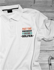 Personalised Full Time Golfer Polo Shirt