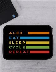Personalised Cycle Tablet or Laptop Sleeve