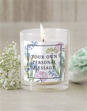 Personalised Blooms Candle