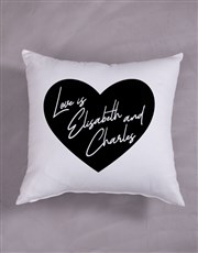 Personalised Heart Message Scatter Cushion