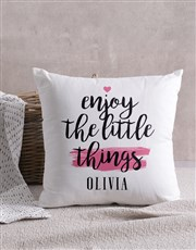 Personalised Little Things Scatter Cushion
