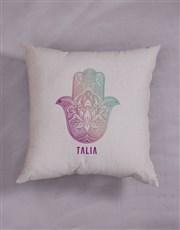 Personalised Hamsa Scatter Cushion