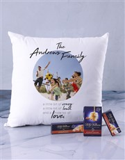 Personalised Crazy Family Photo Scatter Cushion