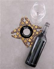 Personalised Bottled Up Wine Glass & Bottle Holder