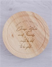 Personalised To Be Gold Cheese Board With Knives
