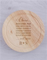 Personalised Running Out Of Cheese Board with Kniv
