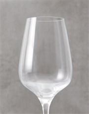 Personalised Mrs Single Wine Glass