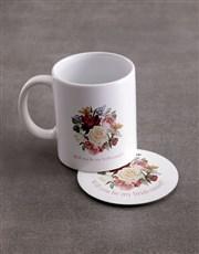 Personalised Bridesmaid Mug & Coaster Set