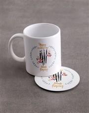 Personalised Secretaries Mug And Coaster Set