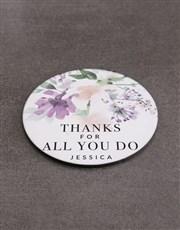 Personalised Thank You Mug  & Coaster Set