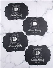 Personalised Family Chalk Board Placemat
