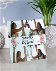 Personalised Best Friend Glass Tile
