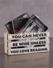 Personalised Love Reading Magazine Rack