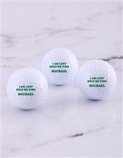 Personalised Lost Golf Balls