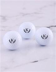 Personalised Wreath Golf Balls