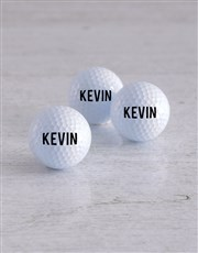 Personalised Name Golf Balls and Waterbottle