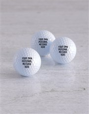 Personalised Message Golf Balls and Waterbottle