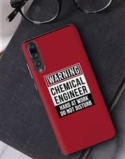 Personalised Warning Huawei Cover