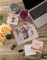 Personalised Photo Blossoms Mousepad