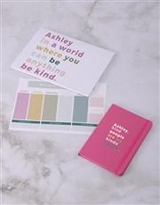 Personalised Kind People Desk Stationery Set