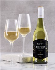 Personalised Black Marble Backsberg Wine