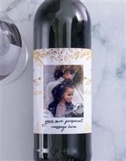 Personalised Gold Leaf Photo Wine