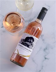Personalised Golden Wishes Photo Wine
