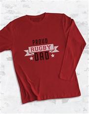 Personalised Proud Dad Long Sleeve T Shirt
